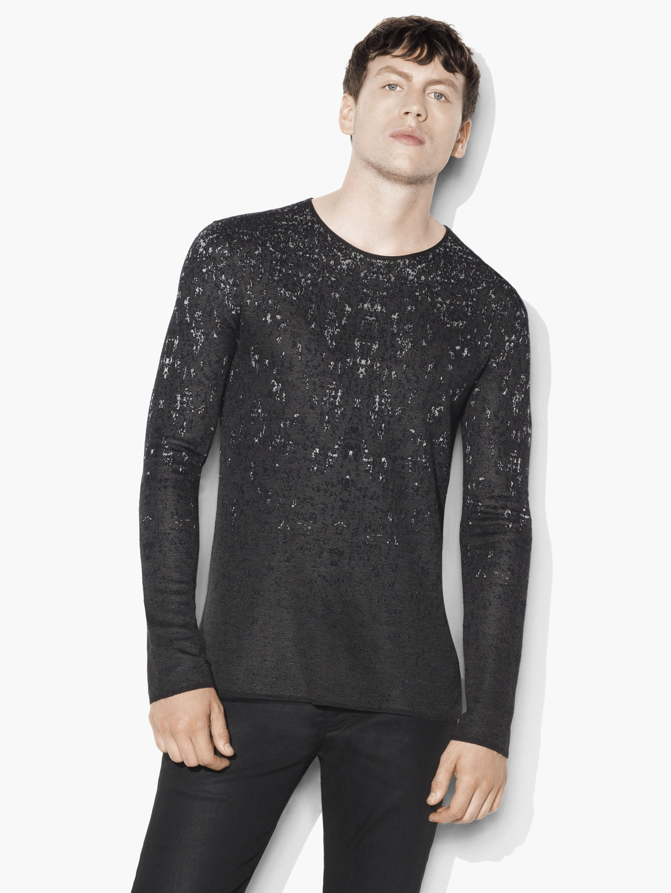 Degrade Jacquard Crewneck