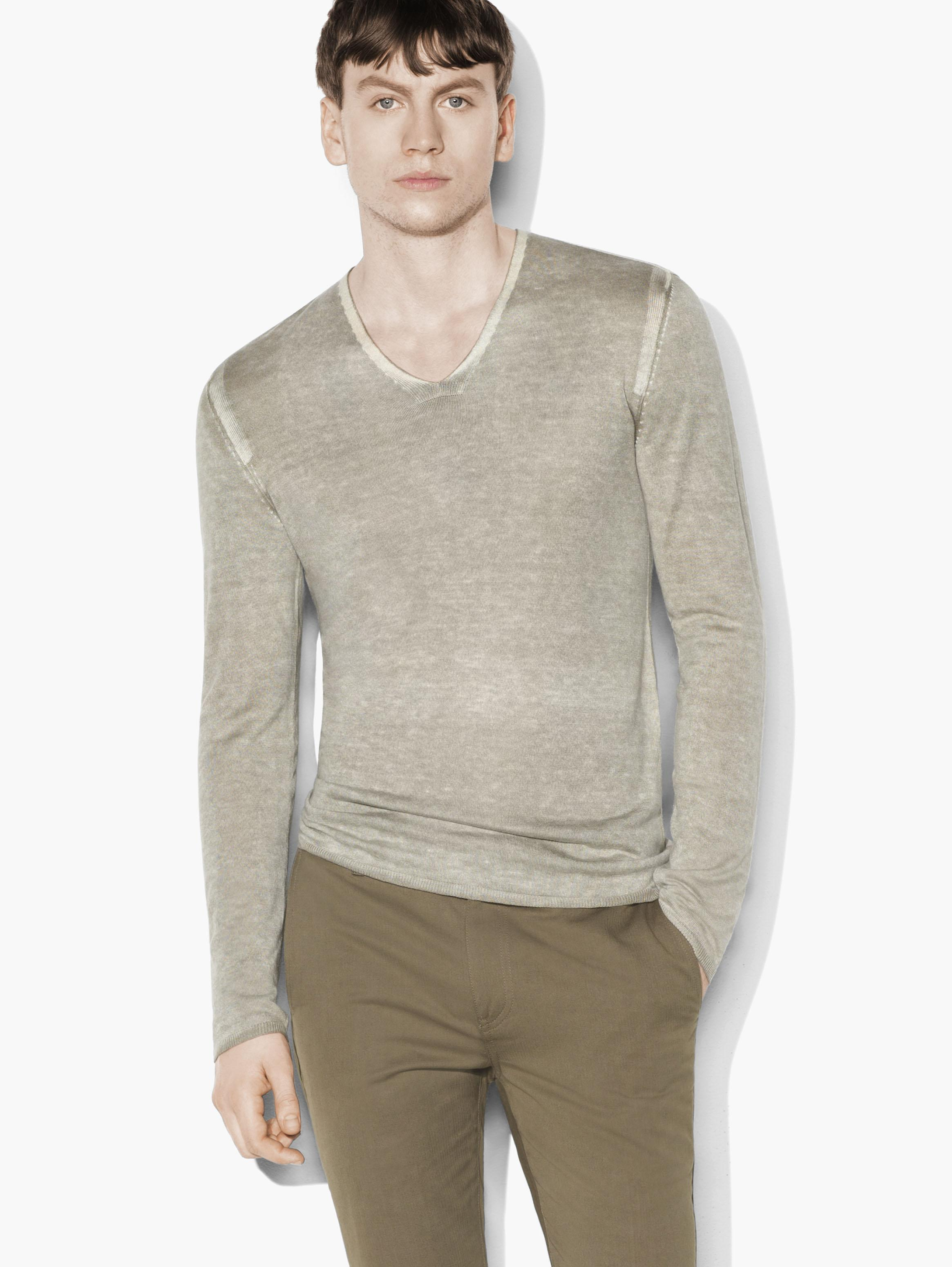 Silk Cashmere V-Neck
