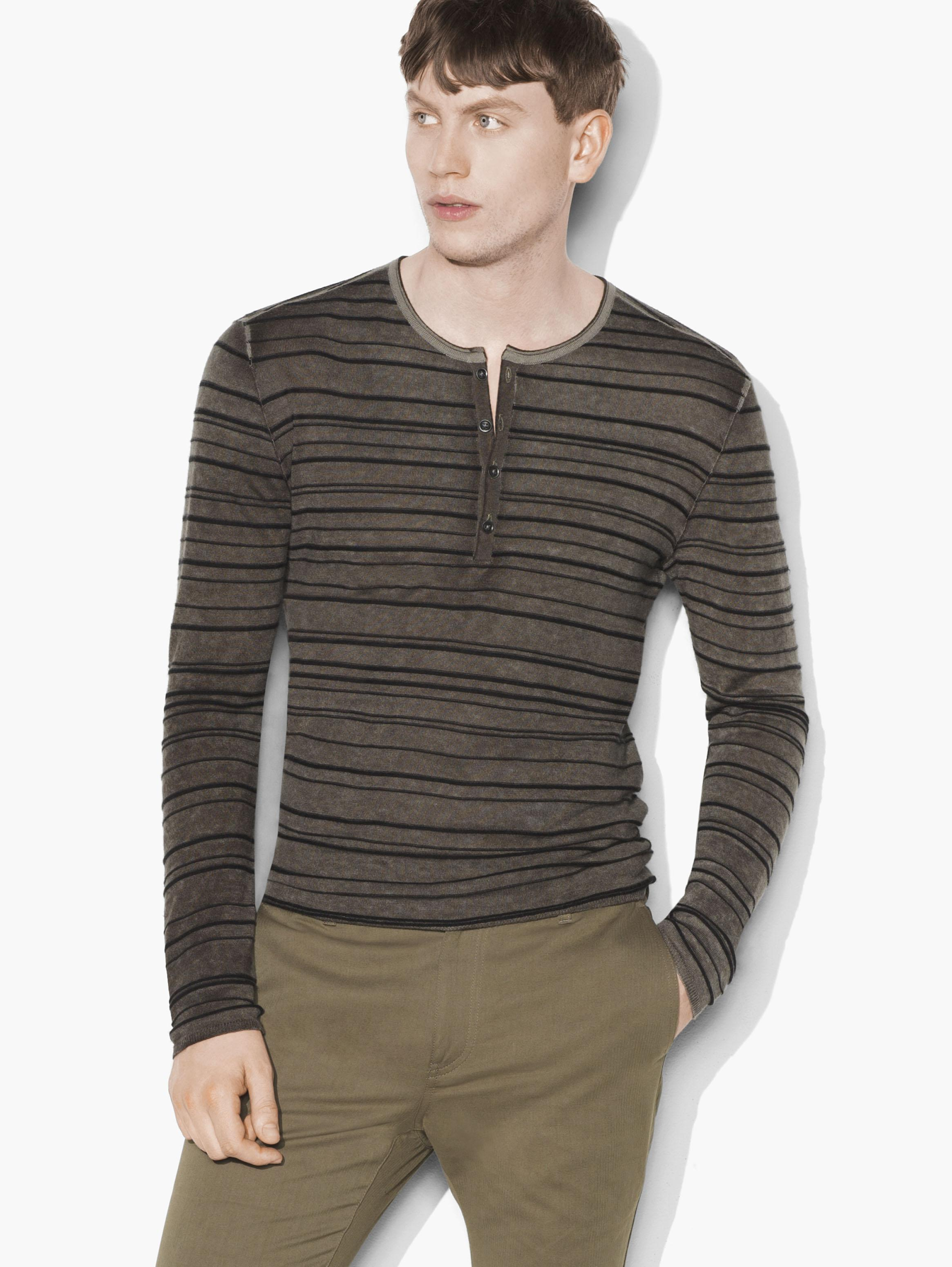Silk Cashmere Henley Sweater