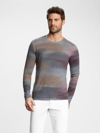 ART PRINT CREWNECK SWEATER