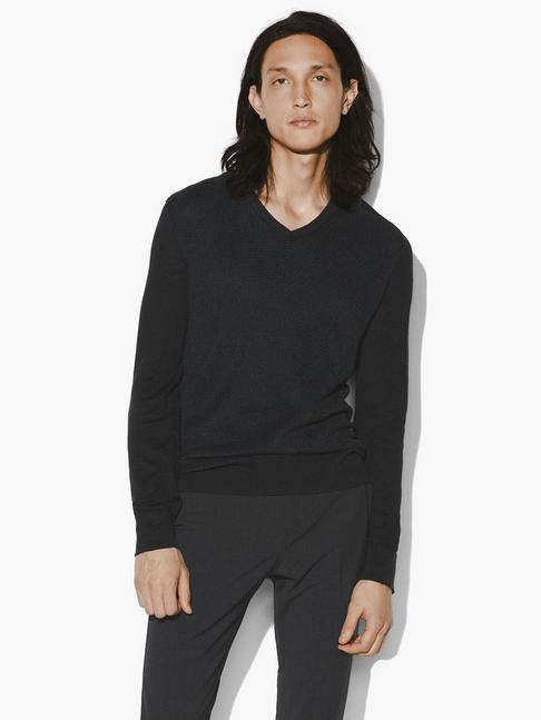 John Varvatos BLACK V NECK SWEATER