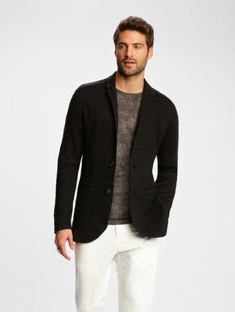 JACQUARD SWEATER JACKET