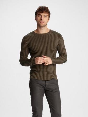 RIBBED CREWNECK SWEATER