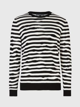 JACQUARD MOVING STRIPE SWEATER