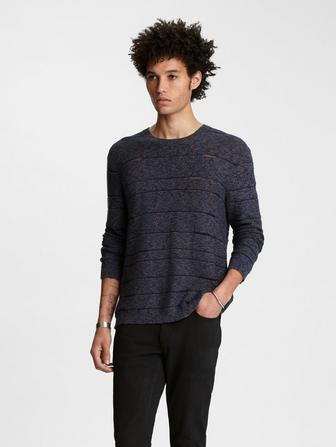 Jacquard Striped Sweater