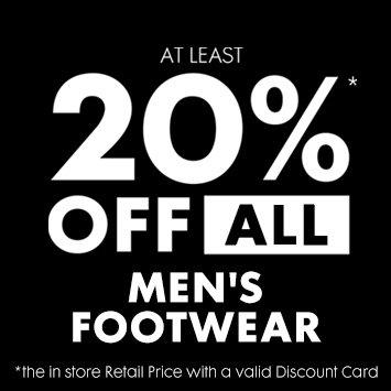 20% off mens footwear