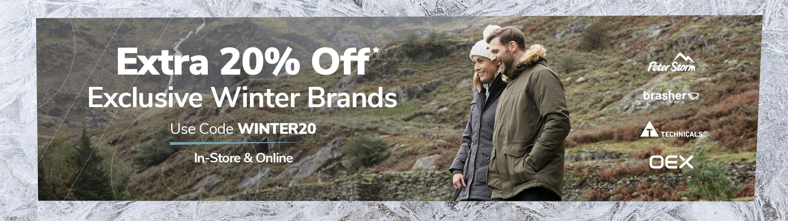 Extra 20% Off Selected Lines - Use Code WINTER20