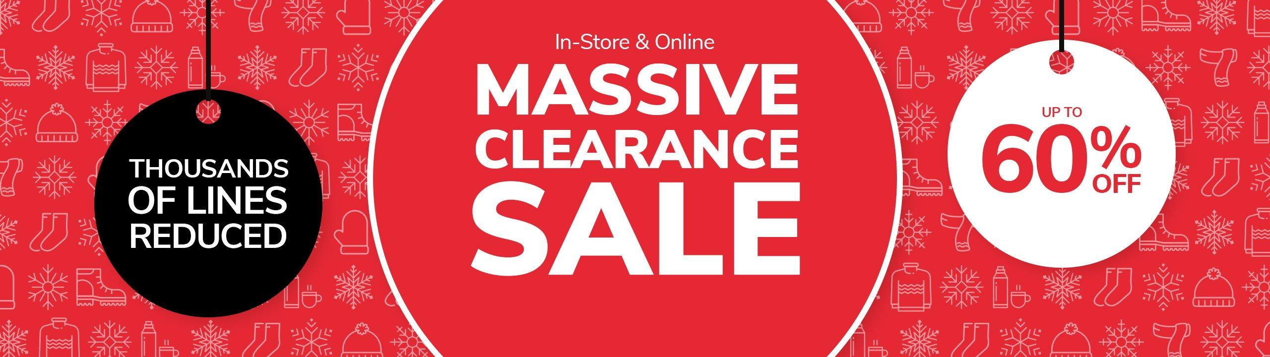 Massive Clearance Sale – Up To 60% Off