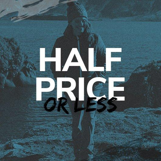 Half Price or Less