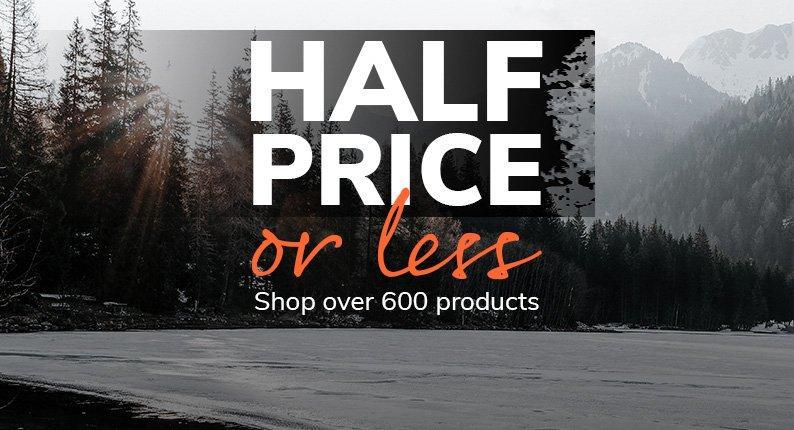 Half Price Or Less
