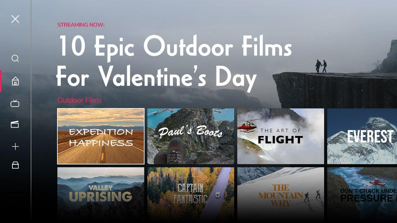 Streaming Now: 10 Epic Outdoor Films for Valentine's Day