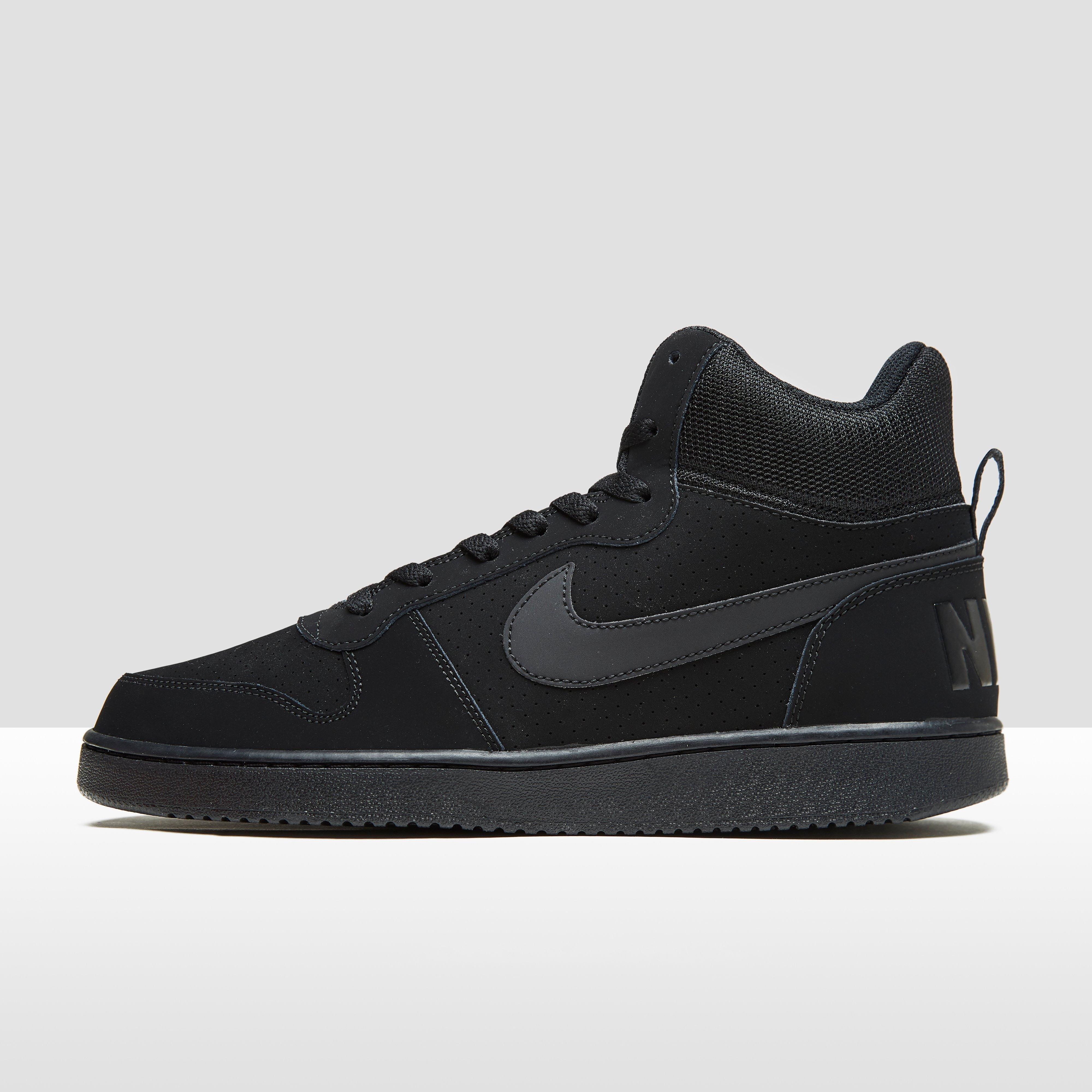 Nike Chaussures Quartier De La Cour De Basket-ball, Mi Hommes - Noir (noir / Blanc), Taille: 44