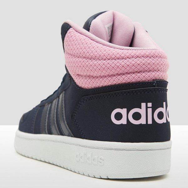 adidas sneakers dames blauw met roze