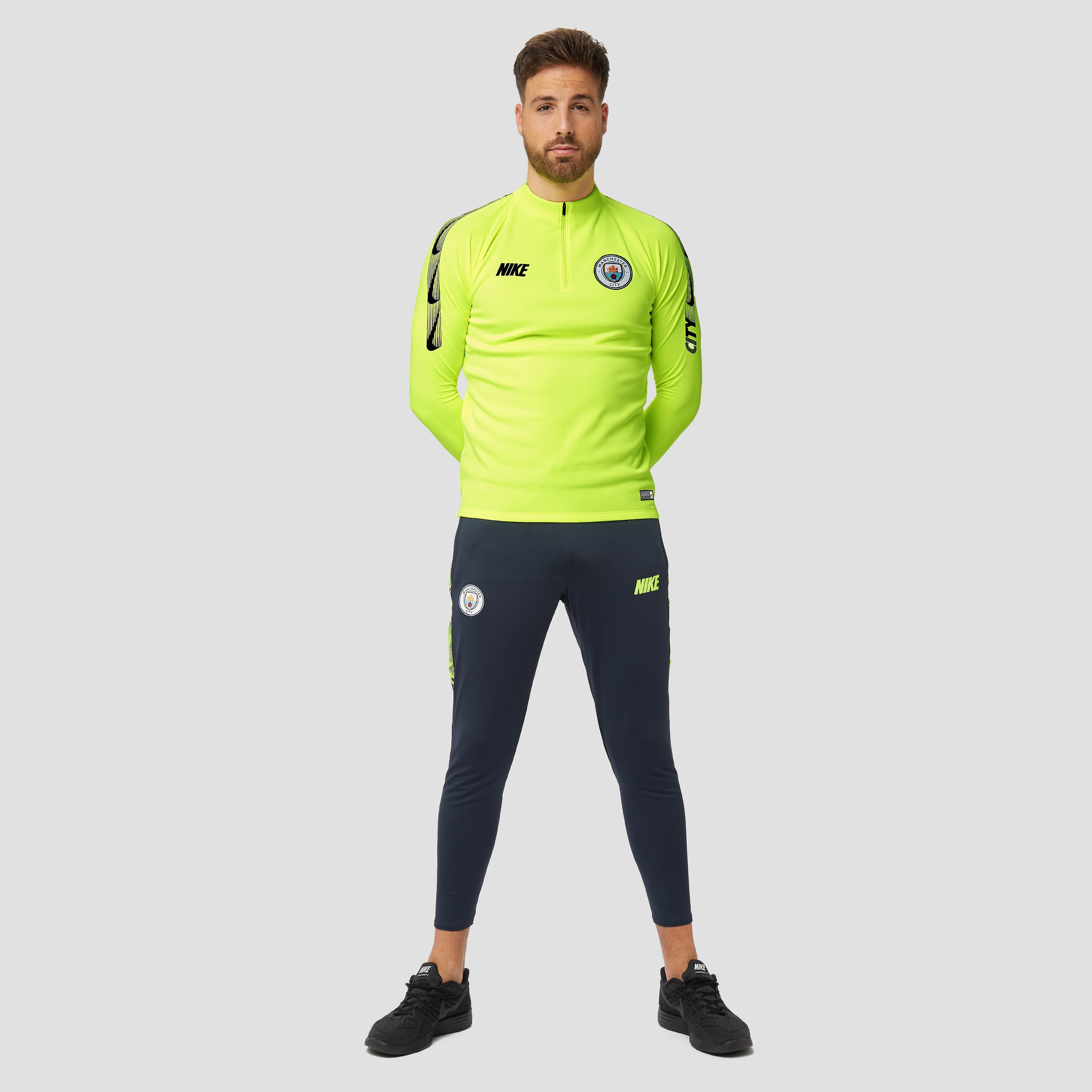 NIKE MANCHESTER CITY FC DRY SQUAD DRILL TRAININGSTOP 18/19 GEEL HEREN