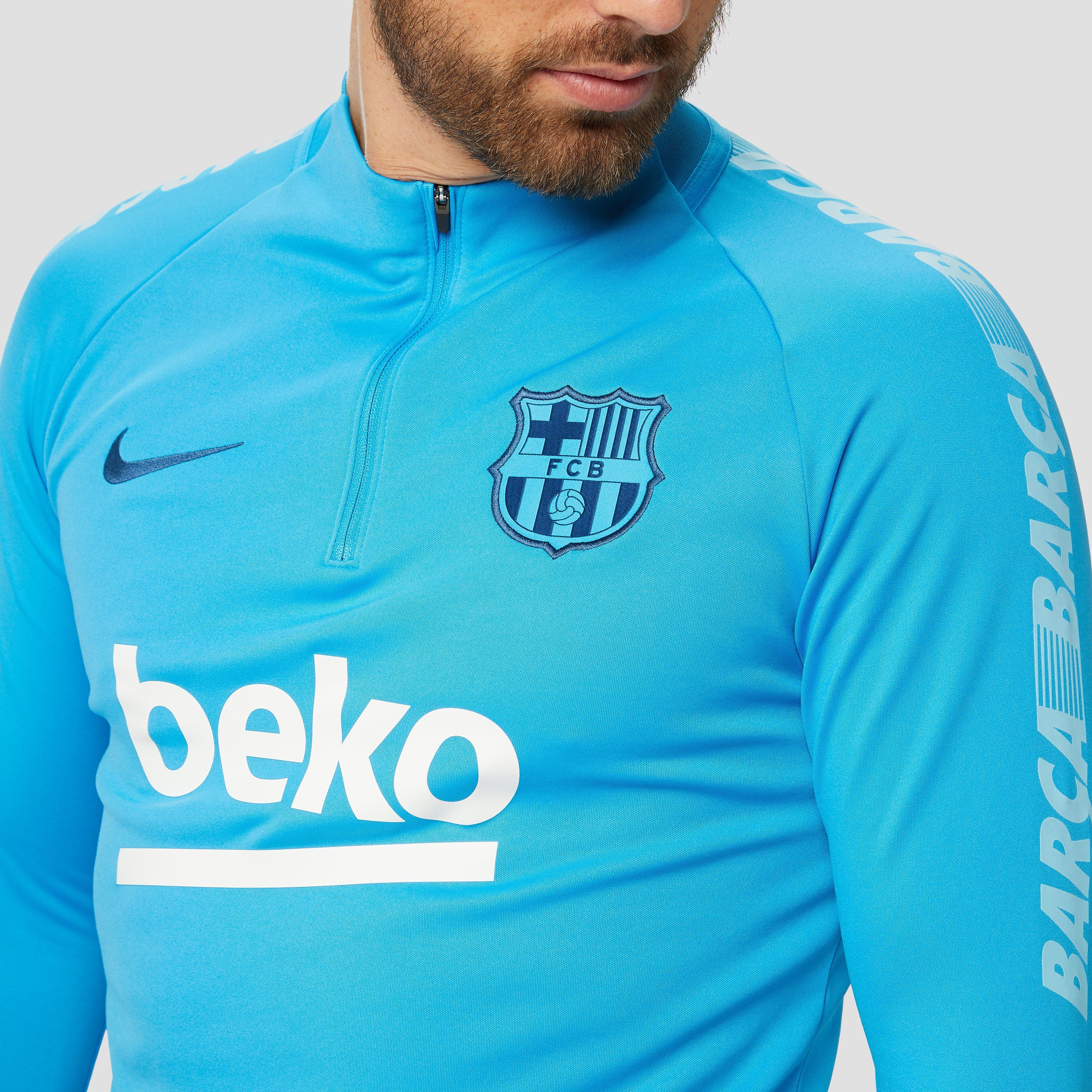 NIKE FC BARCELONA DRY SQUAD DRILL TRAININGSTOP 18/19 BLAUW HEREN