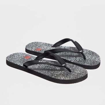 95960101ac86 Black REEF Men s Switchfoot Printed Flip Flops
