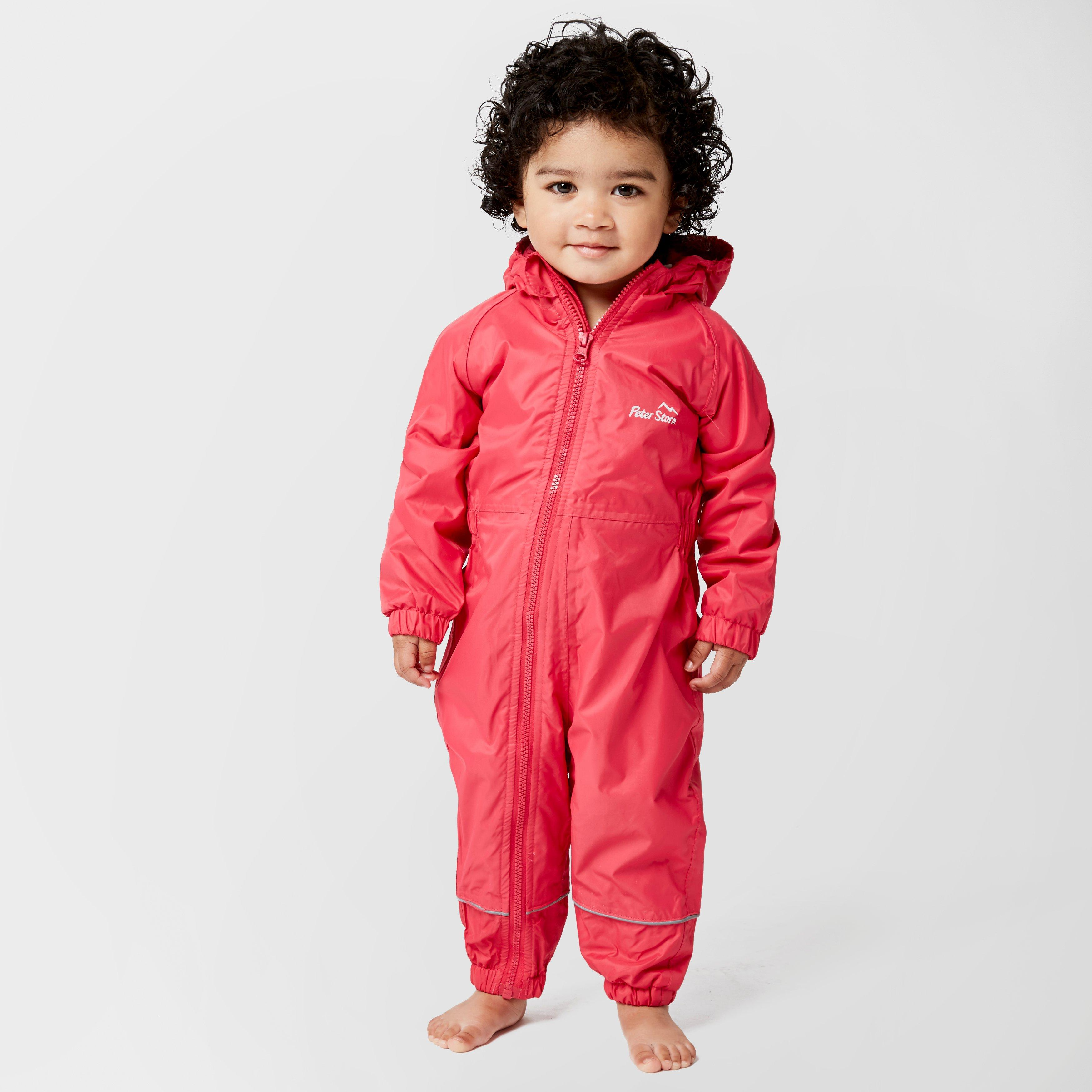 Image of Peter Storm Infants' Fleece Lined Waterproof Suit - Pink/Mpi, Pink/MPI