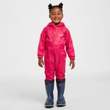 Pink Peter Storm Infants' Fleece Lined Waterproof Suit