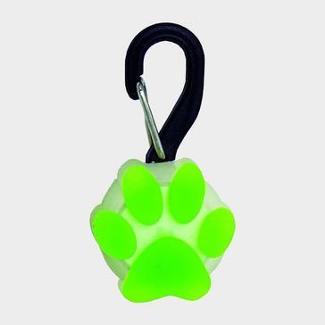 GREEN Niteize Petlit LED Collar Light (Lime Paw)
