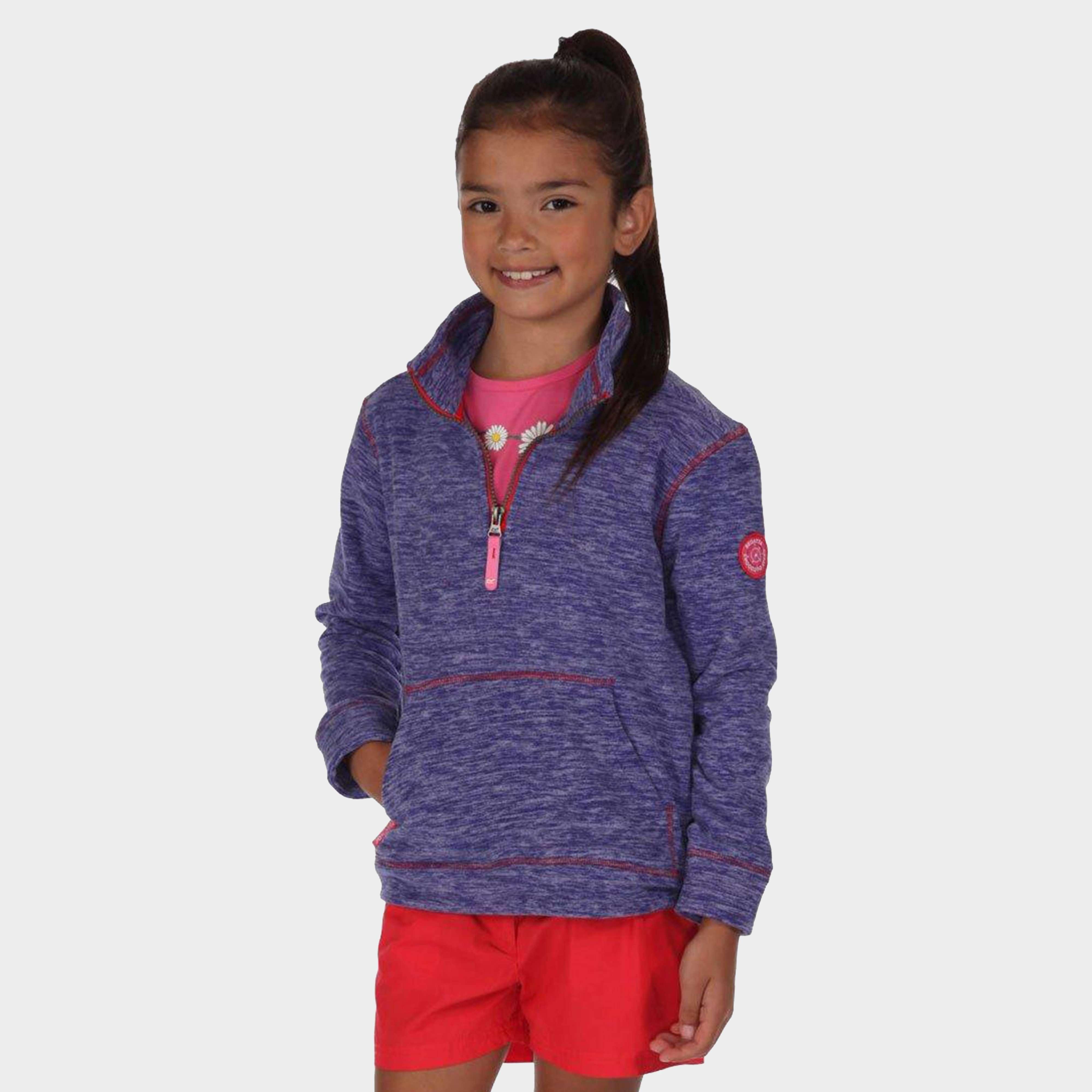 REGATTA Girls' Berty Quarter Zip Fleece
