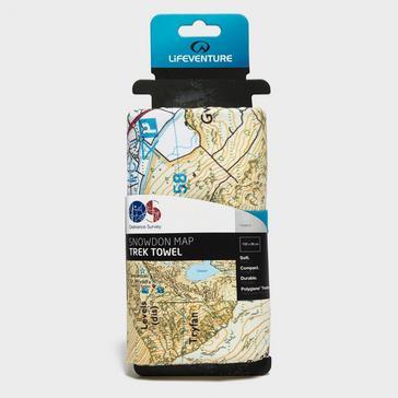 Multi LIFEVENTURE Giant Towel (Snowdon OS Map Print)