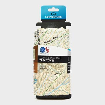 Multi LIFEVENTURE Giant Towel (Scafell OS Map Print)