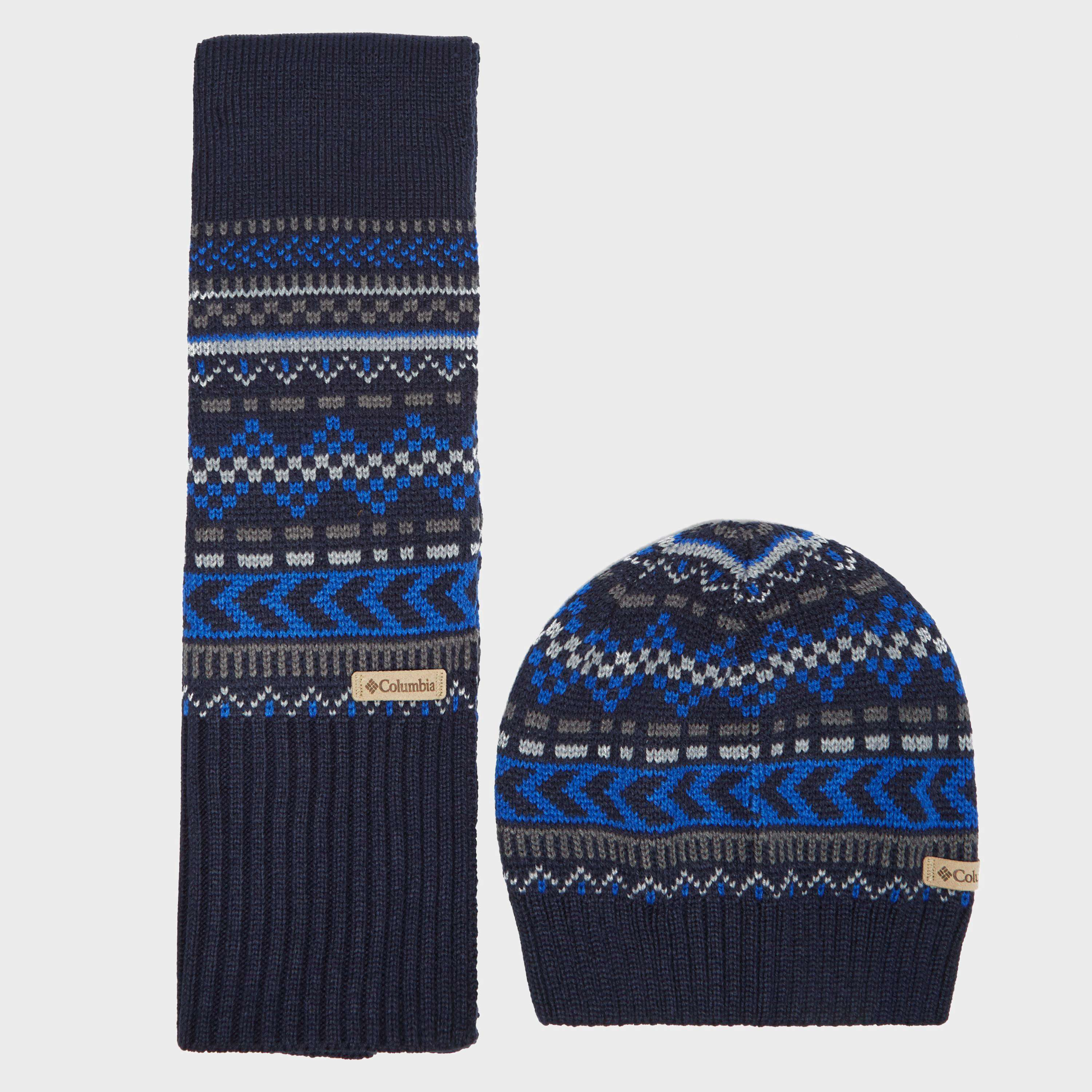 COLUMBIA Men's Winter Worn Hat & Scarf Set