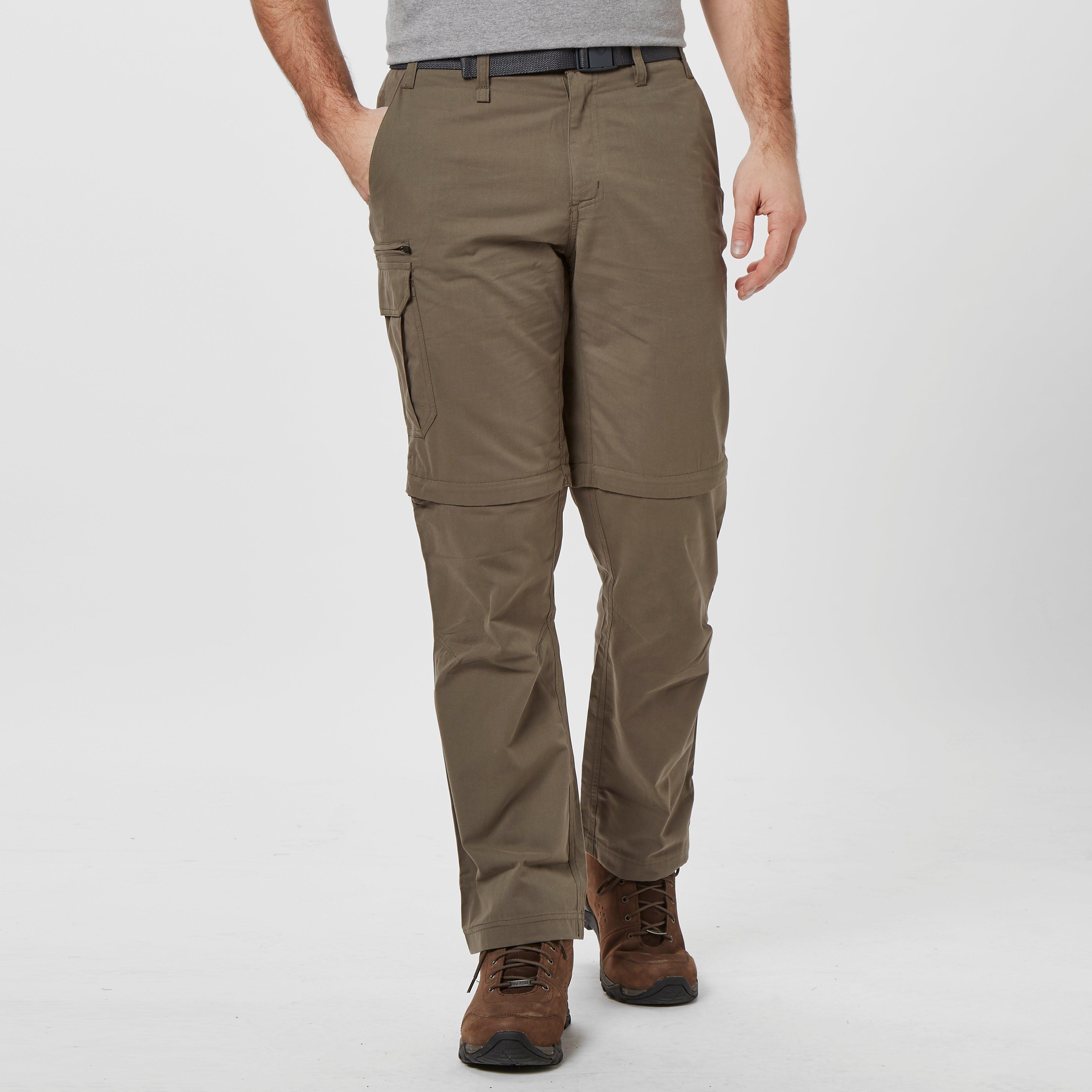 Brasher Brasher Mens Convertible Trouser - Brown, Brown