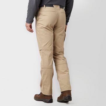 Beige Brasher Men's Double Zip Off Trousers
