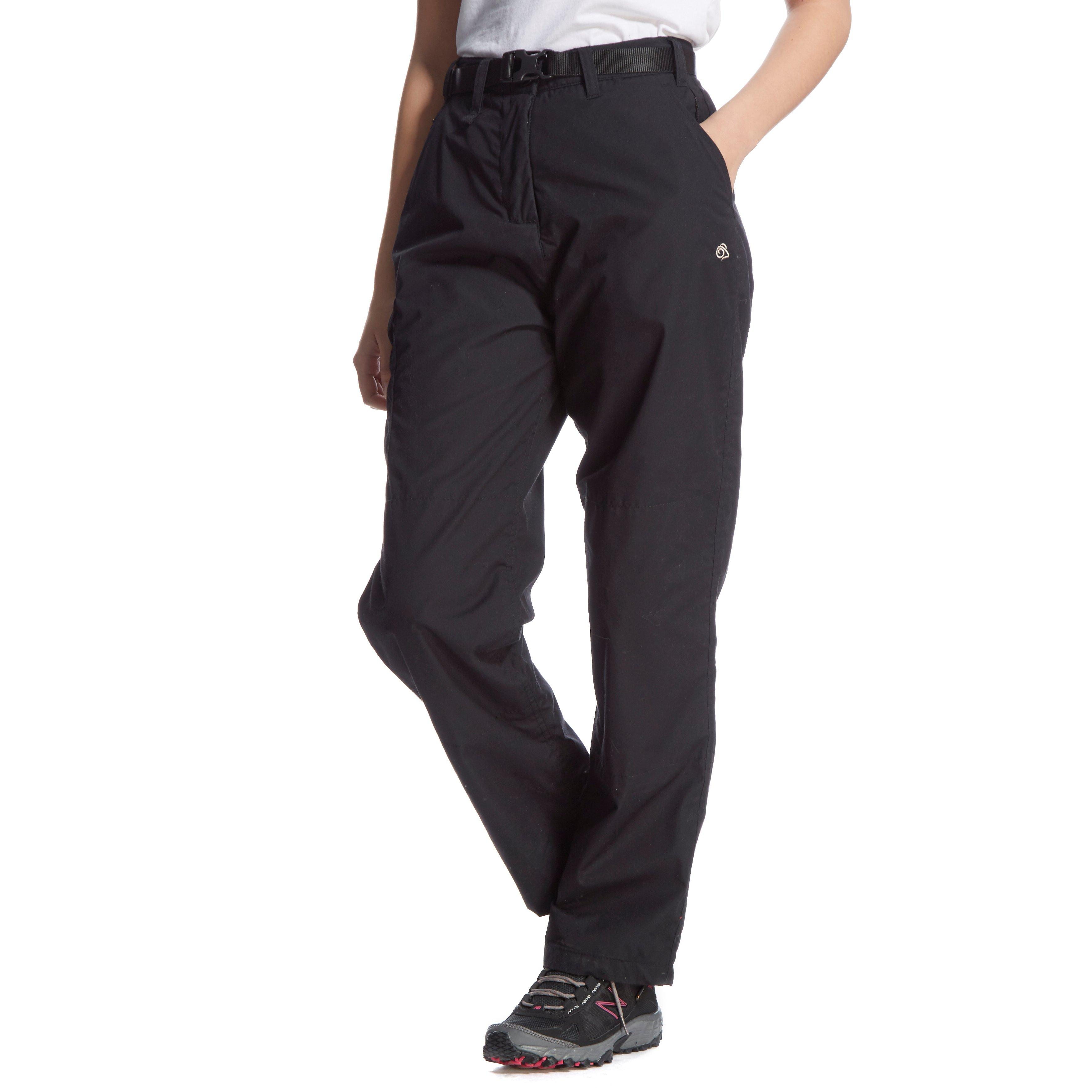 Craghoppers Womens Kiwi Winter Lined Trousers (Short) Black