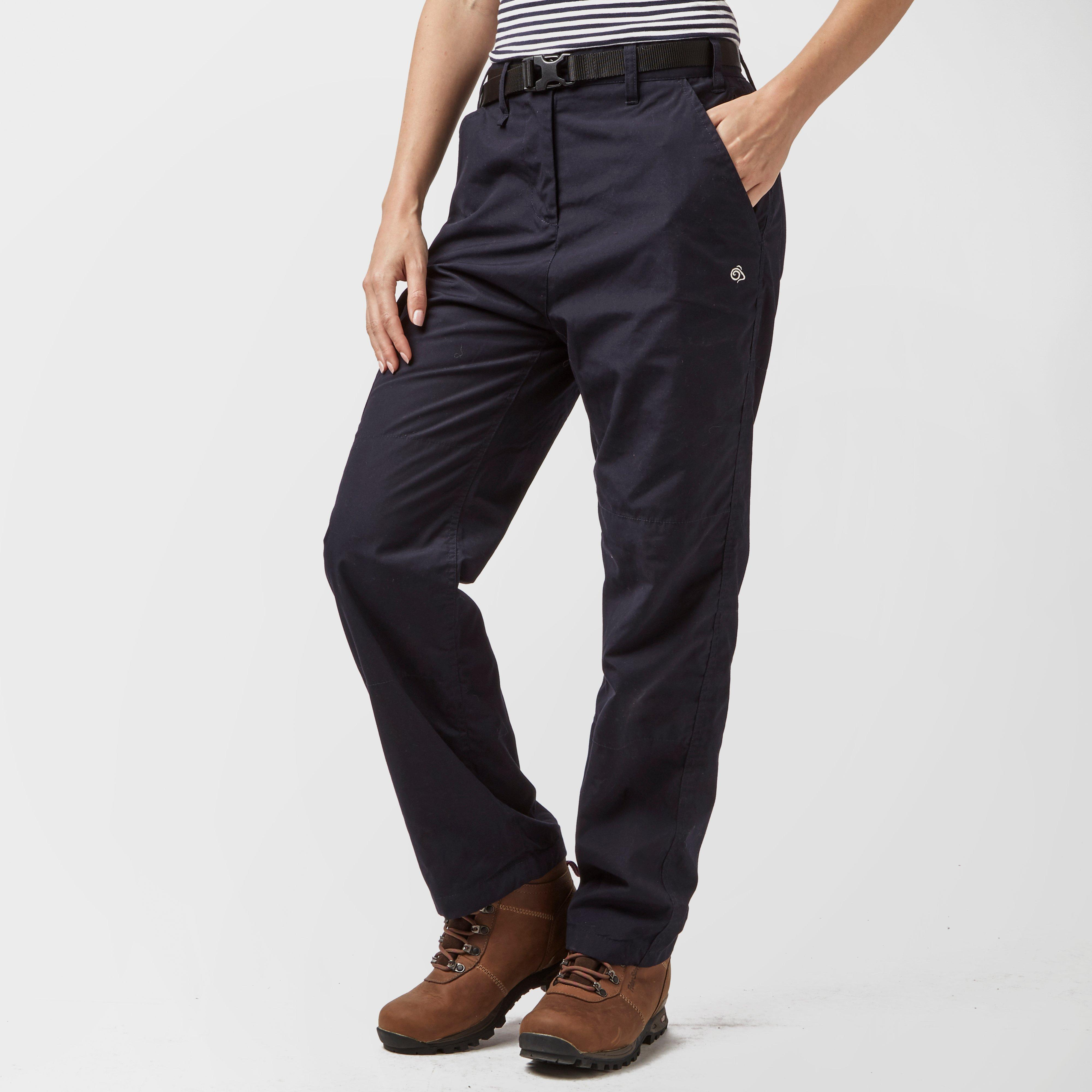 Craghoppers Womens Kiwi Winter Lined Trousers (Short) Navy