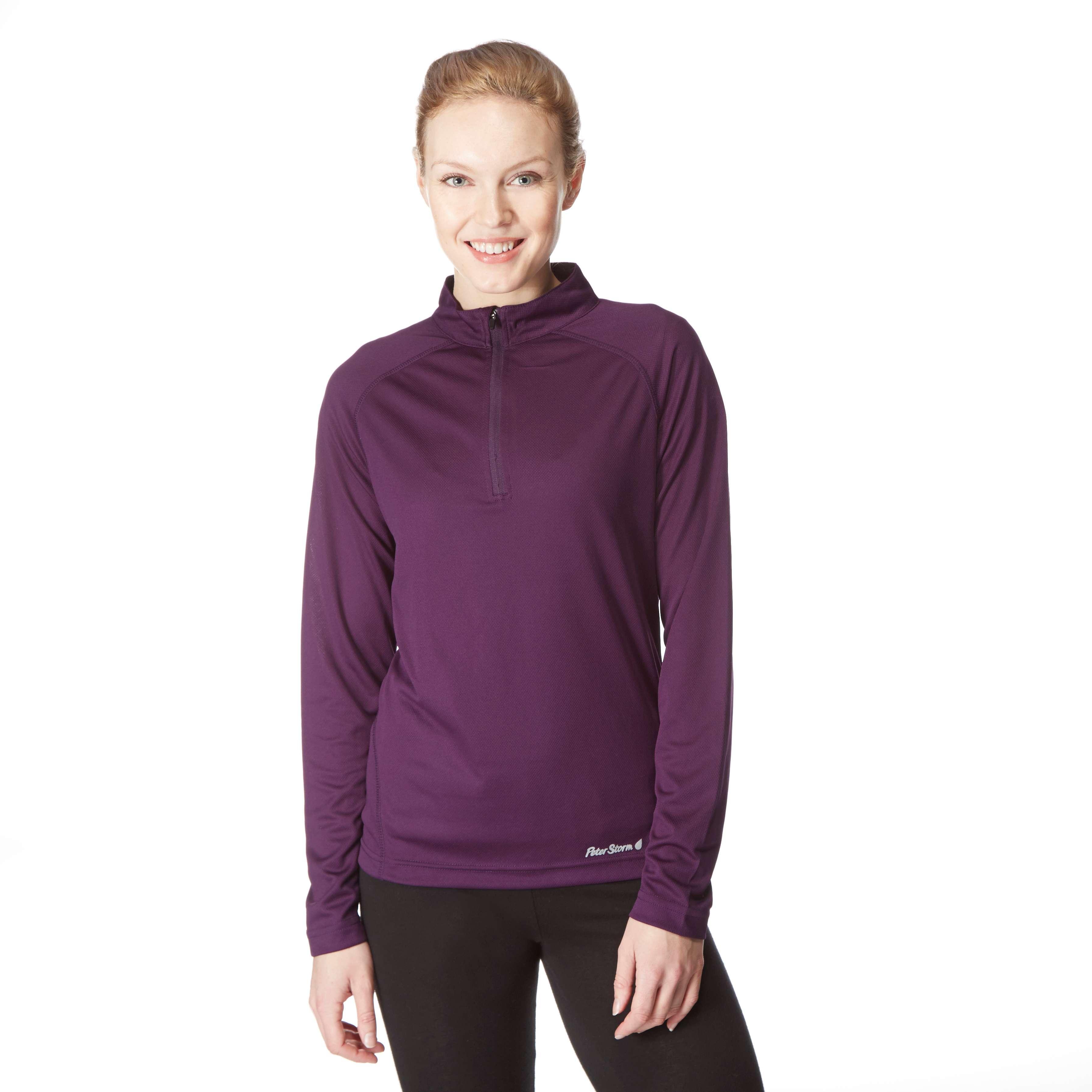 PETER STORM Women's Long Sleeve Zip Neck Tech Top