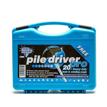 Silver BLUE DIAMOND Pile Driver Pro Tent and Awning Pegs