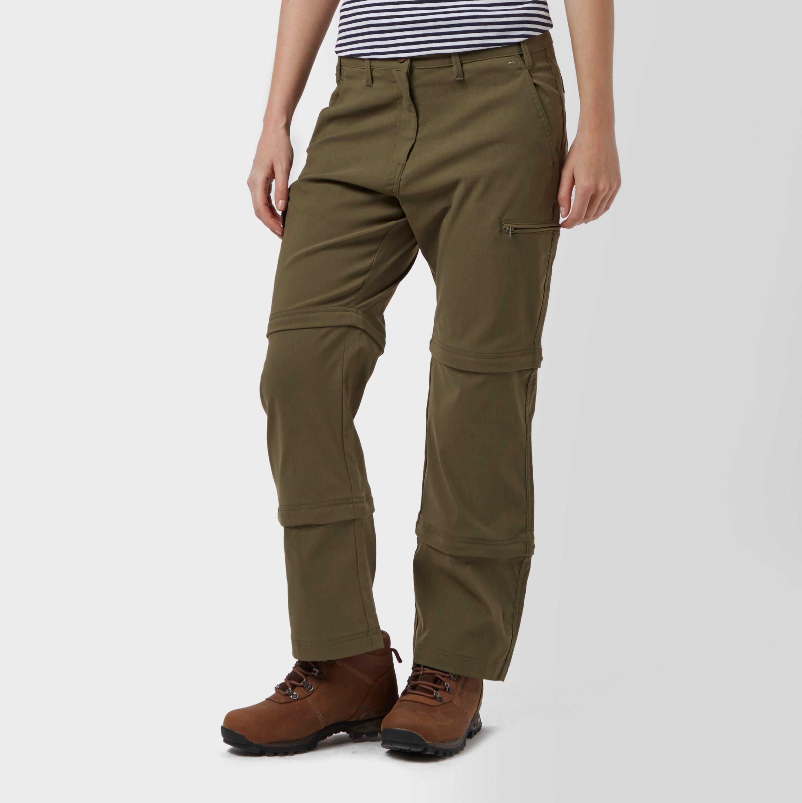 Peter Storm Peter Storm womens Stretch Double Zip Off Trousers - Short - Khaki, Khaki