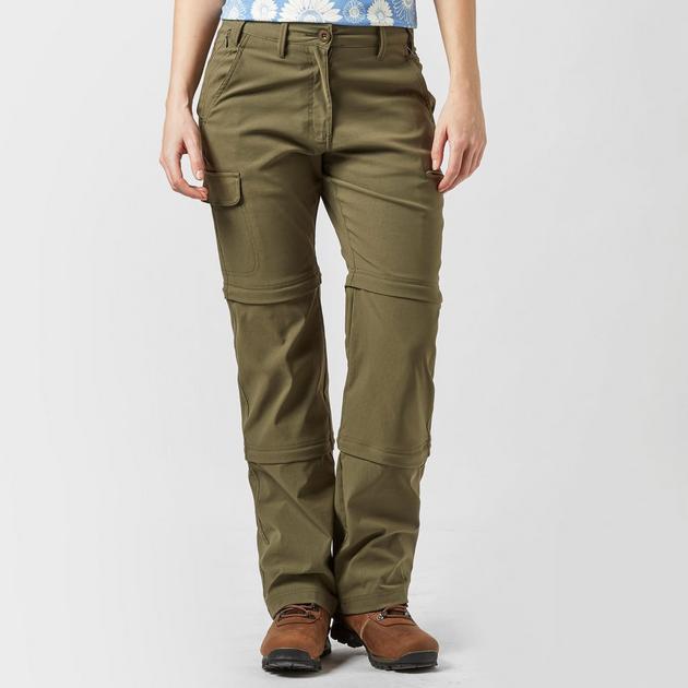 Women's Stretch Double Zip Off Trousers - Long