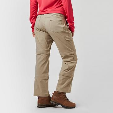 Beige Peter Storm Women's Stretch Double Zip Off Trousers - Short