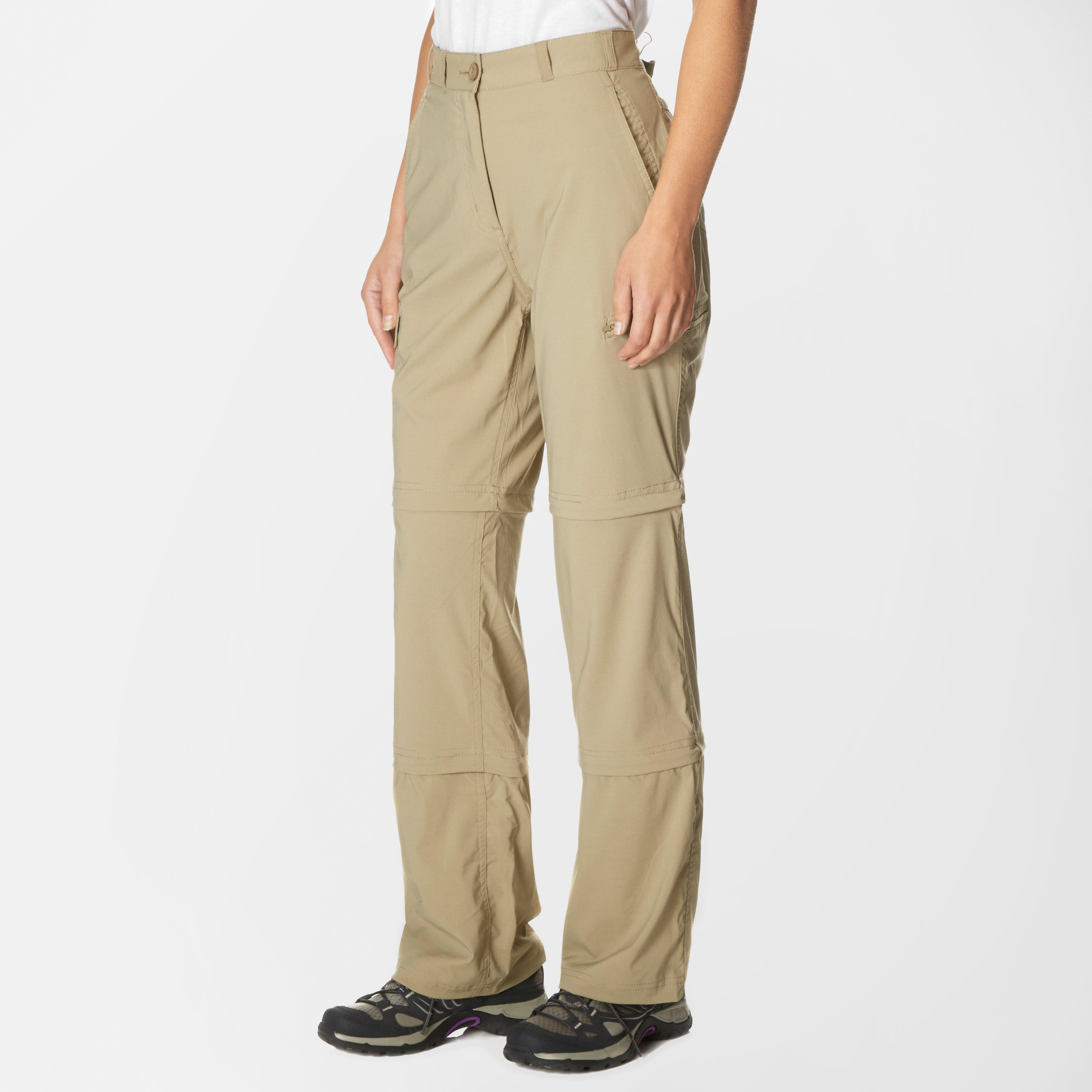 Peter Storm Peter Storm womens Stretch Double Zip Off Trousers - Regular - Beige, Beige