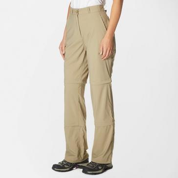 Beige Peter Storm Women's Stretch Double Zip Off Trousers - Regular