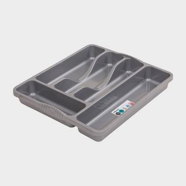 Grey Grey Quest Plastic Cutlery Organiser
