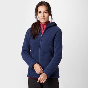 Navy Peter Storm Women's Celia Hooded Fleece Jacket