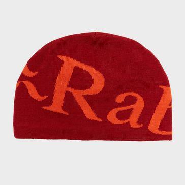b43221c3656 Red RAB Logo Beanie Hat ...