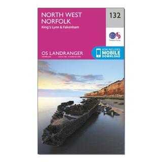 Landranger 132 North West Norfolk, King's Lynn & Fakenham Map With Digital Version