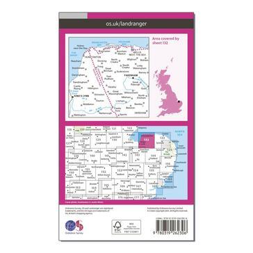 Orange Ordnance Survey Landranger 132 North West Norfolk, King's Lynn & Fakenham Map With Digital Version