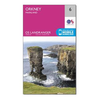 Landranger 6 Orkney - Mainland Map With Digital Version