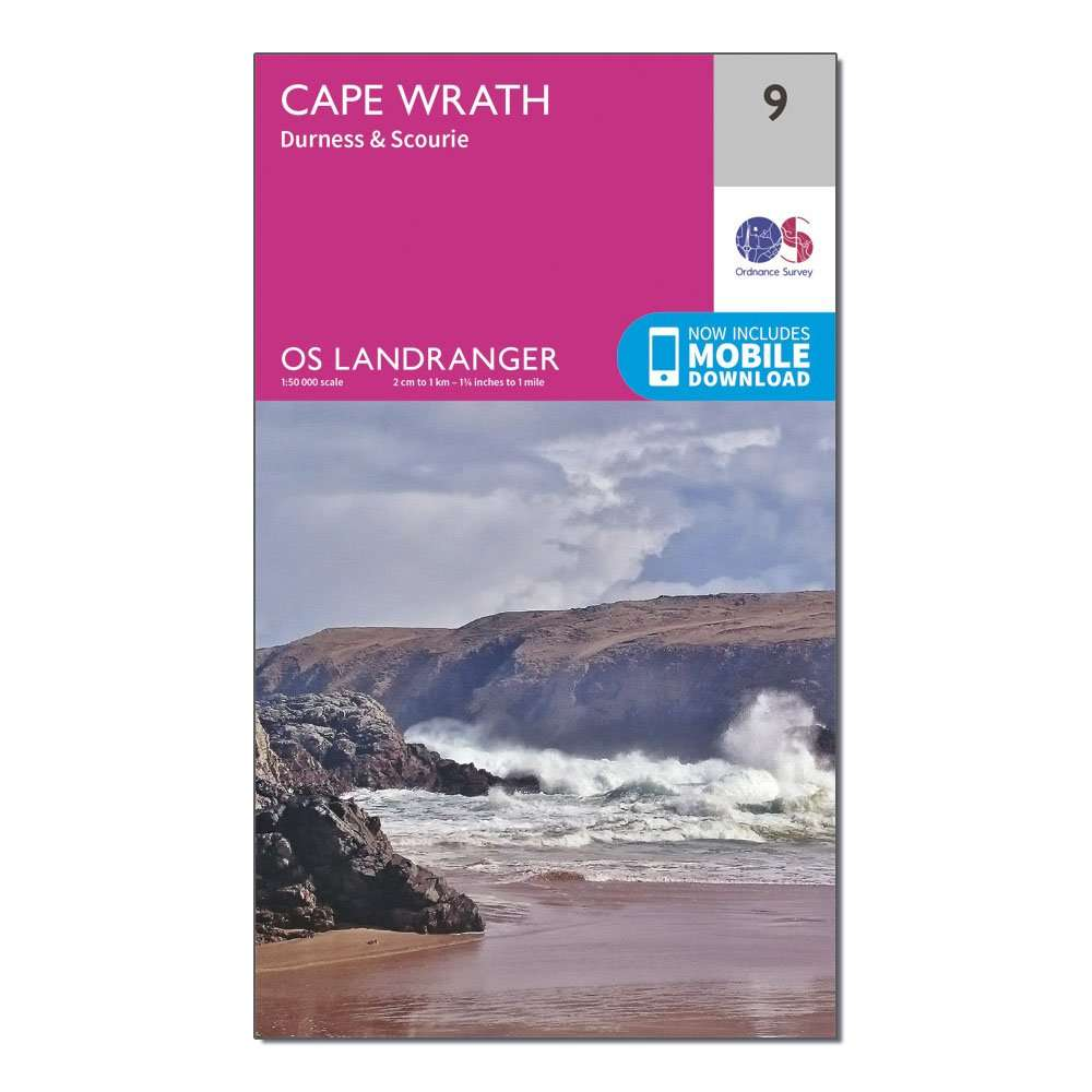 ORDNANCE SURVEY Landranger 9 Cape Wrath, Durness & Scourie Map With Digital Version