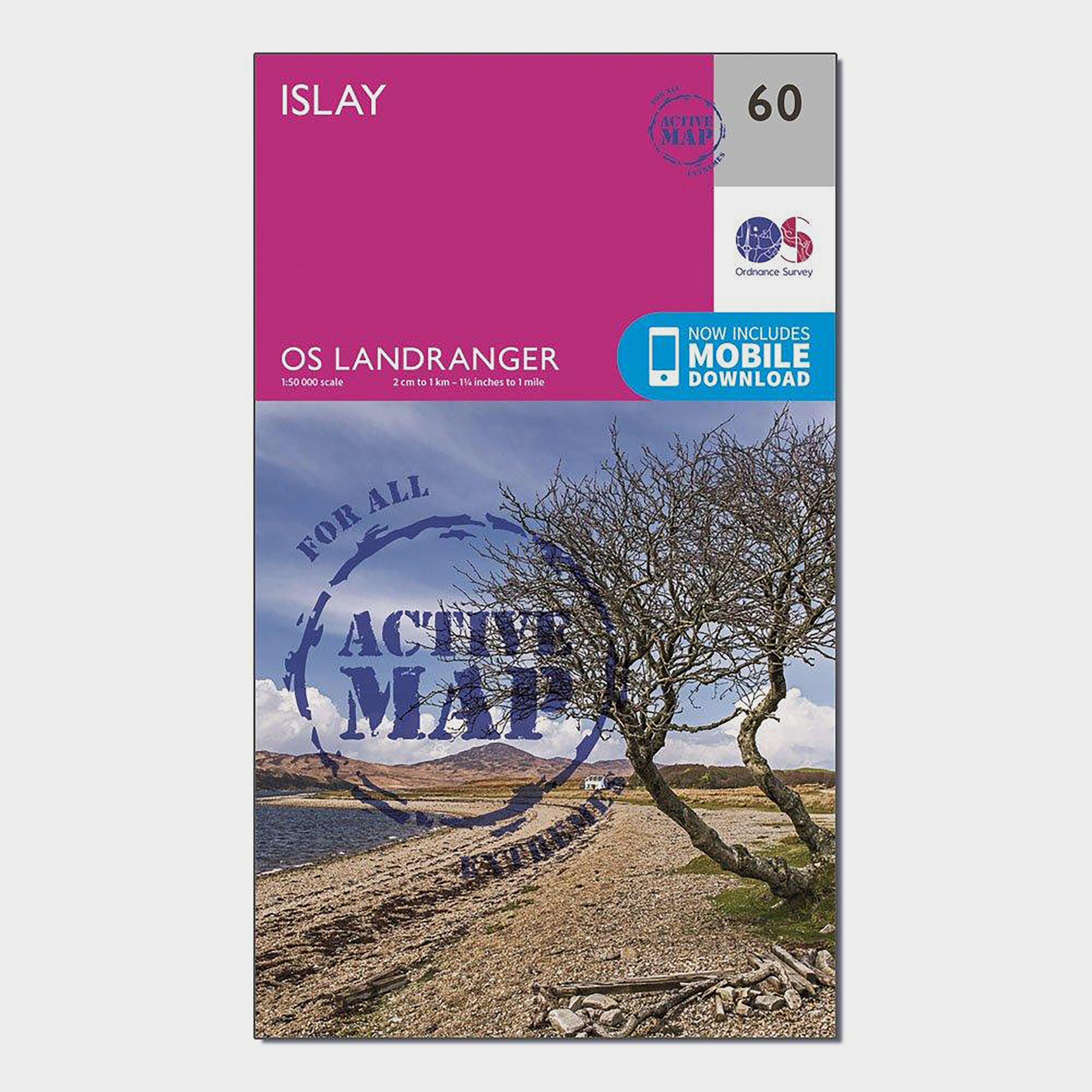 Image of Ordnance Survey Landranger Active 60 Islay Map With Digital Version - D/D, D/D