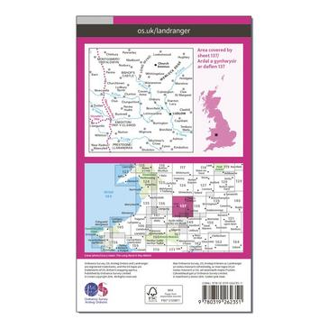 Orange Ordnance Survey Landranger 137 Ludlow & Church Stretton, Wenlock Edge Map With Digital Version