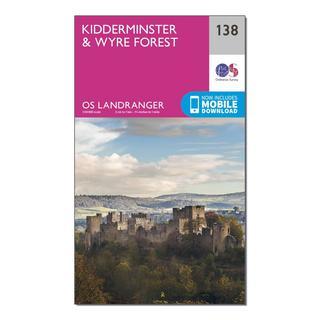 Landranger 138 Kidderminster & Wyre Forest Map With Digital Version