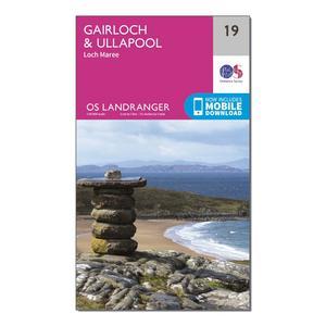 ORDNANCE SURVEY Landranger 19 Gairloch & Ullapool, Loch Maree Map With Digital Version