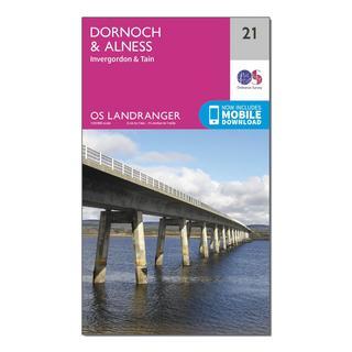 Landranger 21 Dornoch & Alness, Invergordon & Tain Map With Digital Version